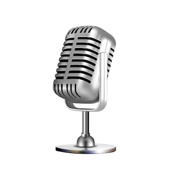 Microfoon retro vocal radio equipment