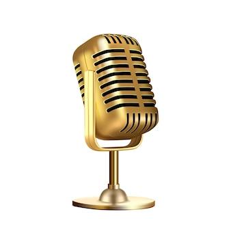 Microfoon vintage stijl radioapparatuur