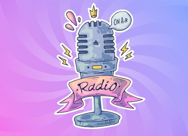 Microfoon voor radio. creatieve cartoon illustratie.