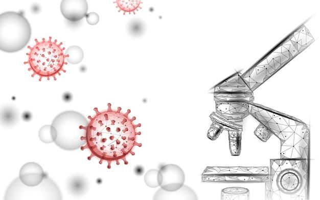 Microscoopvirus 3d laag poly renderen