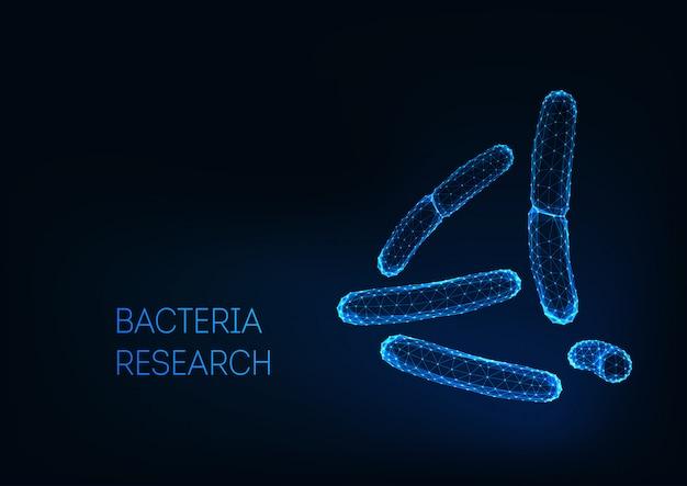 Microscopische bacteriën bacacilli acidophilus, salmonella, lactobacillus. probiotica.