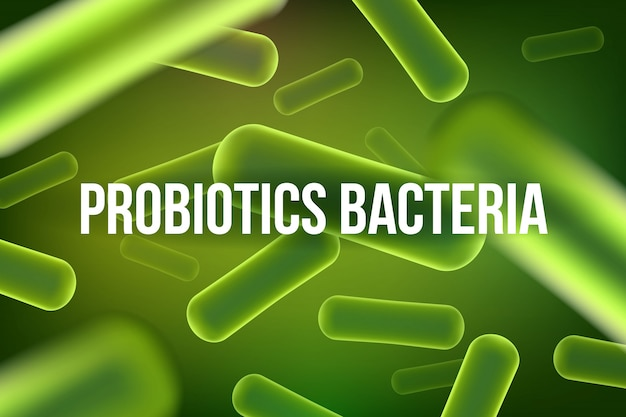 Microscopische robiotica bacteriën achtergrond.