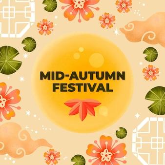 Mid-autumn festival getekend concept
