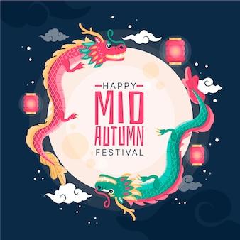 Mid-autumn festival hand getekend ontwerp