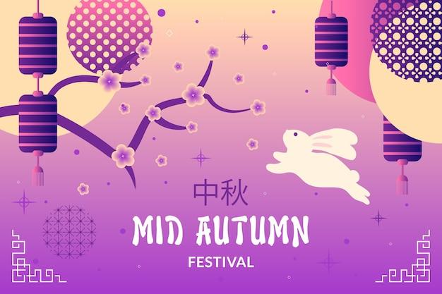 Mid-herfst festival banner stijl