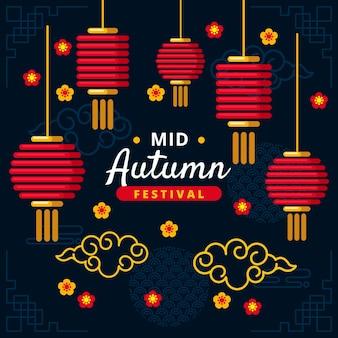Mid-herfst festival illustratiestijl