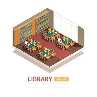 Middelbare school bibliotheek interieur banner
