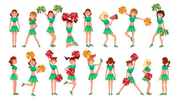 Middelbare schoolprofessional cheerleading teams
