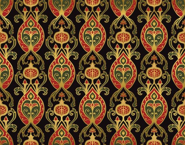 Middeleeuws patroon met granaatappels.