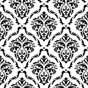 Middeleeuwse bloemen naadloze patroonachtergrond