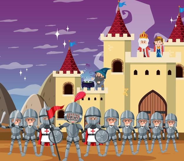 Middeleeuwse historische stripfiguren