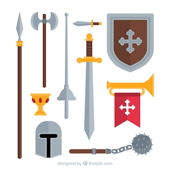 Middeleeuwse krijger's elementen