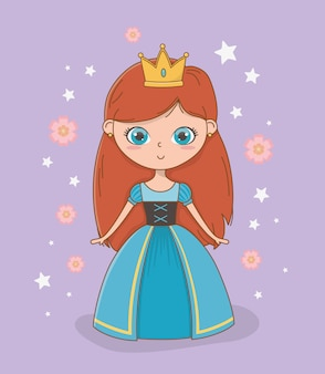 Middeleeuwse prinses van sprookjesachtig ontwerp