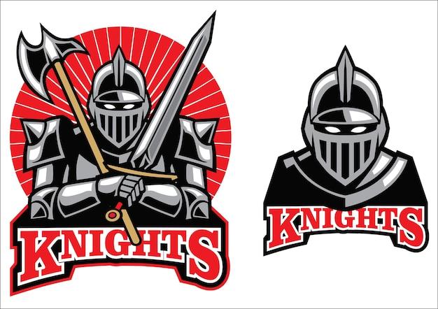 Middeleeuwse ridder mascotte