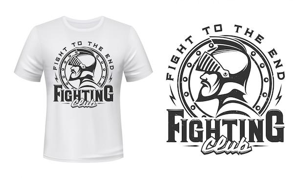 Middeleeuwse ridder t-shirt print van vechtclub