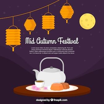 Midden herfst festival, thee