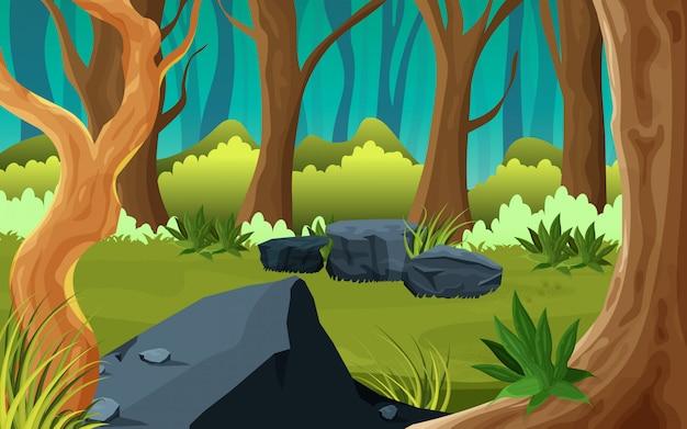 Midden van een bosaardillustratie