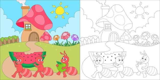 Mierenfamilie kleuren