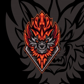 Mighty fire wolf