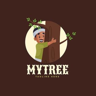 Mijn boom logo ontwerpsjabloon
