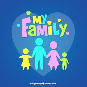 Mijn familie Gratis Vector