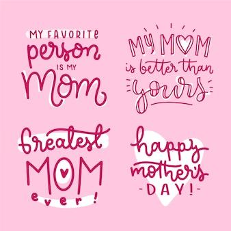 Mijn favoriete persoon is mijn moeder handgetekende badge