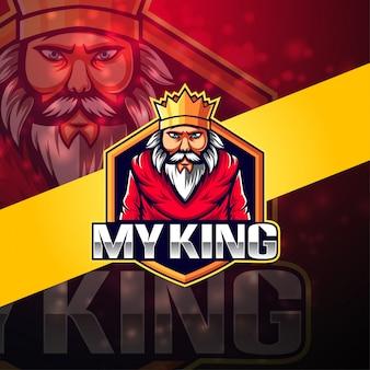 Mijn koning esport mascotte logo ontwerp