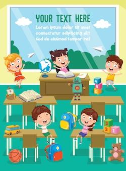 Mijn lieve kinderen studeren en spelen in voorschoolse klas