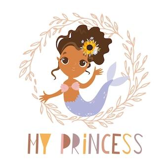 Mijn prinses zeemeermin kaart