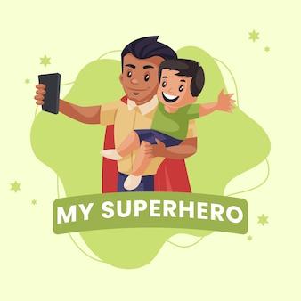 Mijn superheld banner ontwerpsjabloon