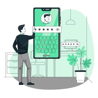 Mijn wachtwoord concept illustratie