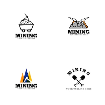 Mijnbouw logo template