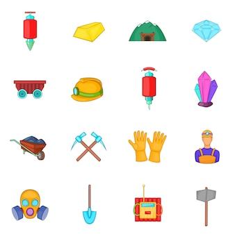 Mijnbouw pictogrammen instellen