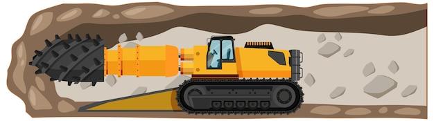 Mijnbouw roadheader geïsoleerd