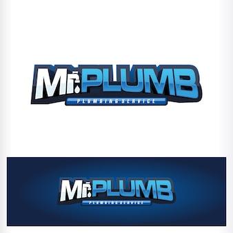 Mijnheer plumb drop tekstlogo