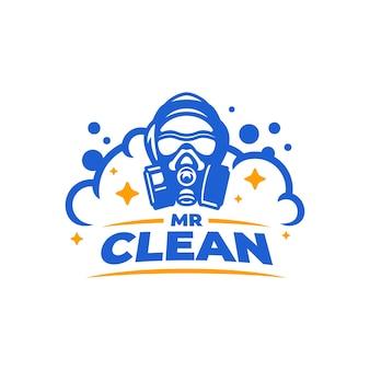 Mijnheer schoon logo-ontwerp