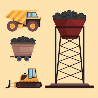 Mijnindustrie vier elementen