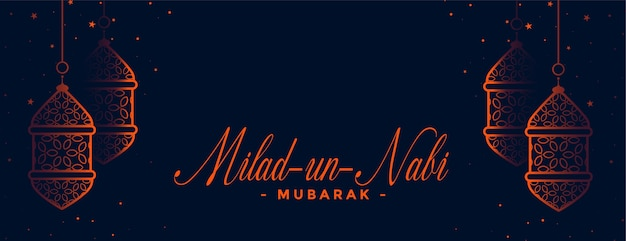 Milad un nabi traditionele banner