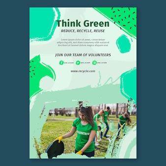 Milieu-activiteiten poster sjabloon