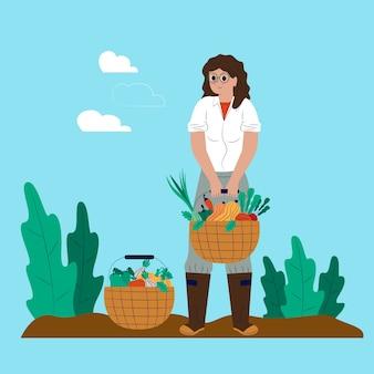 Milieu biologische landbouw concept