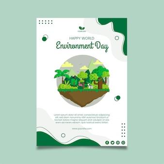 Milieu dag poster sjabloon