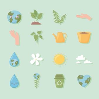 Milieu ecologie set