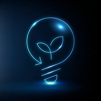 Milieu gloeilamp pictogram vector schone technologie symbool