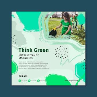 Milieu kwadraat flyer