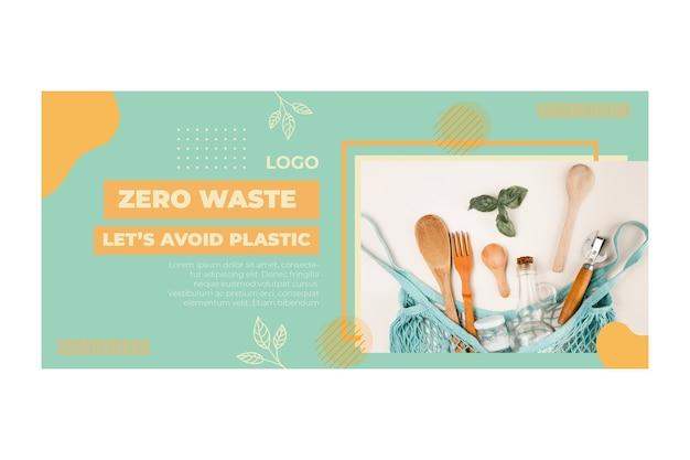 Milieu nul afval sjabloon voor spandoek