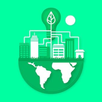 Milieu-ontwerp in papierstijl