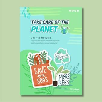 Milieu poster sjabloon