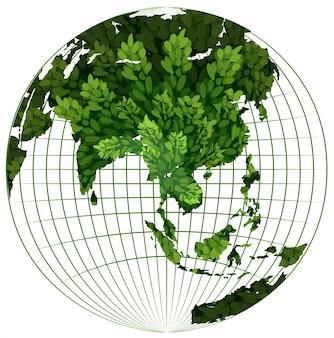 Milieu thema met plant op aarde