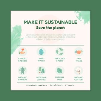Milieu vierkante flyer