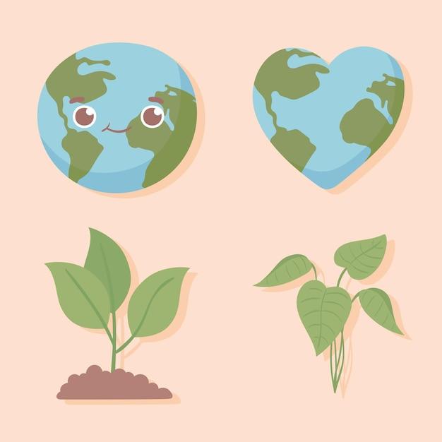Milieu wereld en planten